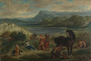 <i>Ovid among the Scythians</i> two paintings by Eugène Delacroix