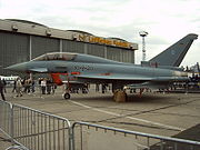A Luftwaffe Eurofighter Typhoon (two-seater trainer version)