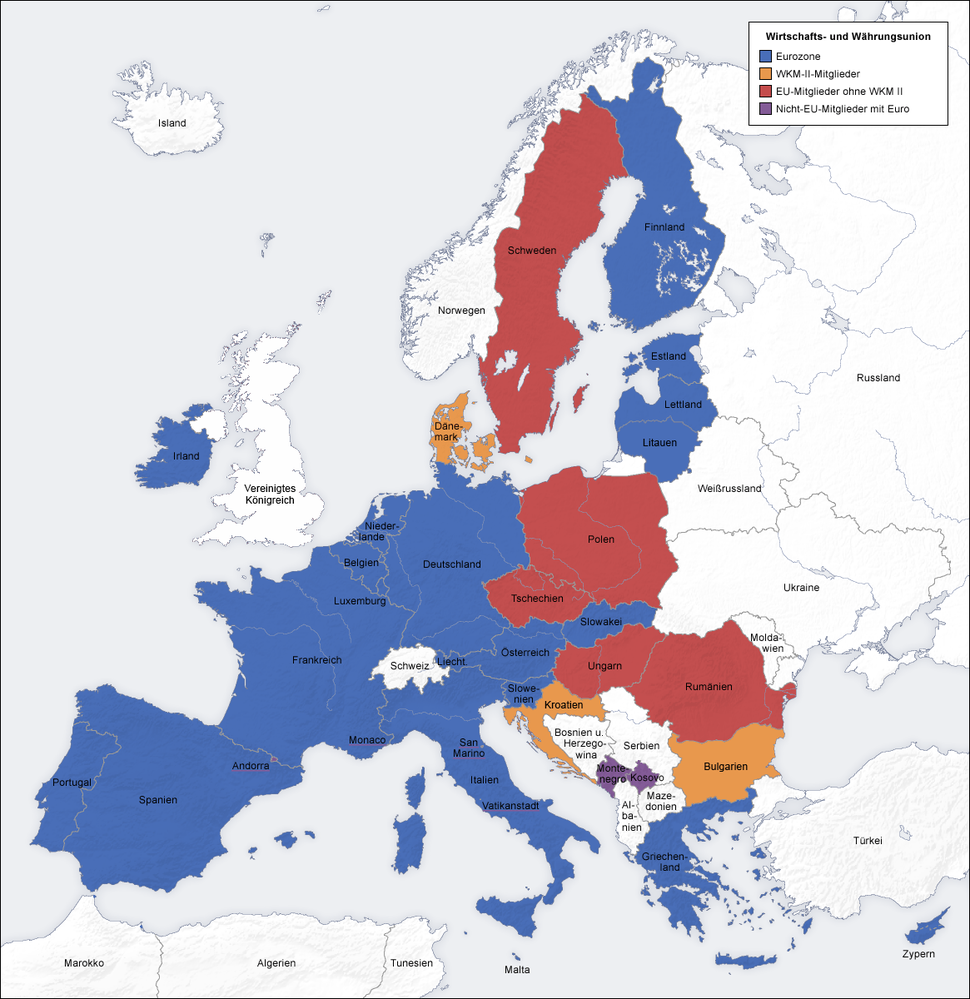 European union emu map de