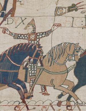 Companions of William the Conqueror - Image: Eustache de Boulogne Bayeux