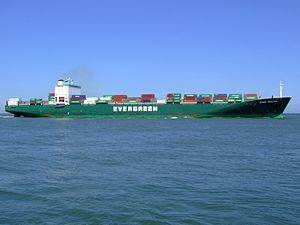 Ever Deluxe p6 approaching Port of Rotterdam, Holland 04-Aug-2007.jpg
