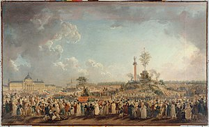 Dechristianization of France during the French Revolution - Image: Fête de l'Etre suprême 2