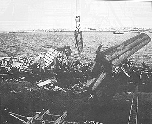 Flushing Bay - Wreckage of USAir Flight 405 lies in the bay on March 22, 1992.