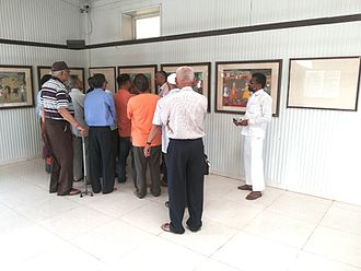 Chhatrapati Shivaji Maharaj Museum of Indian History - People appreciating the exhibits at CSMMIH Museum