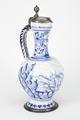 Fajans, kanna med lock, 1700-tal - Hallwylska museet - 90461.tif