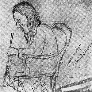 Lalon - Lalon's only portrait sketched during his lifetime by Jyotirindranath Tagore in 1889
