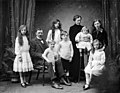 Family group portrait of Mr and Mrs M Young and family of Waterloo House, Waterford, 1913.jpg