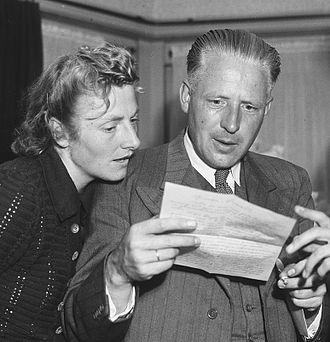 Fanny Blankers-Koen - Fanny and Jan Blankers in 1948