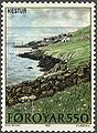 Faroe stamp 152 village of hestur.jpg