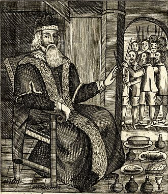 Father Christmas - Father Christmas, as illustrated in Josiah King's two pamphlets of 1658 and 1678