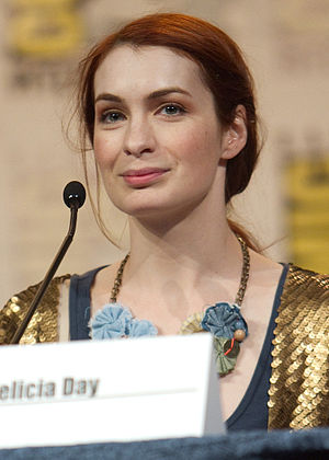 Felicia Day at a San Diego Comic-Con panel for...