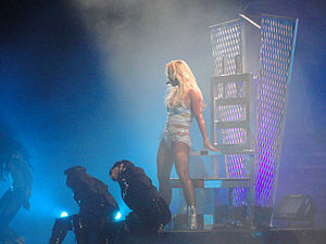 "Hold It Against Me - Spears performing ""Hold It Against Me"" at the Femme Fatale Tour (2011)."