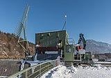 Ferlach Ressnig ÖDK-Flusskraftwerk Staumauer-Krone Treibgutrechen 28012017 6241.jpg