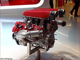 Ferrari 458 - The F136 V8 engine used in the 458