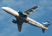 The planform of an A320 is well shown on this Finnair A320-200 takeoff