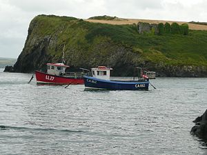Abercastle - Fishing boats at Abercastle