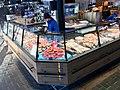 Fiskebryggen, Mathallen, Fishmarket, Bergen, Norway 2018-03-16. Seafood dispaly counter at Fjellskål Fisk & Skalldyr store and restaurant.jpg