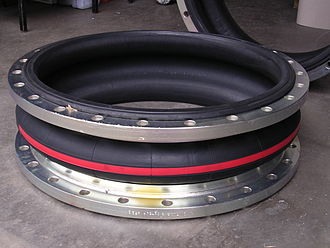 Expansion joint - Single sphere rubber bellows expansion joint, with flanges.