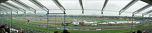 Flemington Racecourse - 180 degree panorama of the racecourse