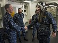 Flickr - Official U.S. Navy Imagery - The commander of Expeditionary Strike Group 3 greets commander of Amphibious Squadron 5..jpg