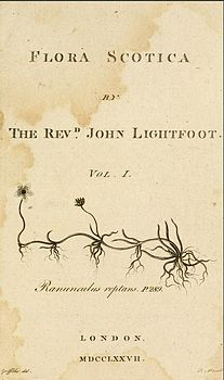 Flora Scotica by The Revd John Lightfoot title page.jpg