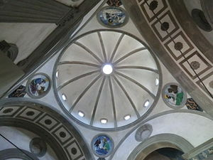 History of Italian Renaissance domes - The Pazzi Chapel in Florence.