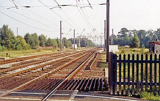 Floriston railway station - Site of the station in 1991
