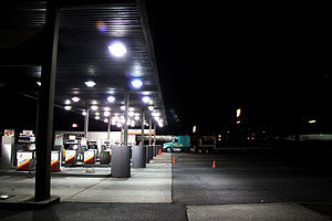 Diesel pumps at a Flying J truck stop