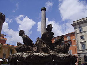 Peperino - A fountain sculpted out of Peperino, in Marino, Italy