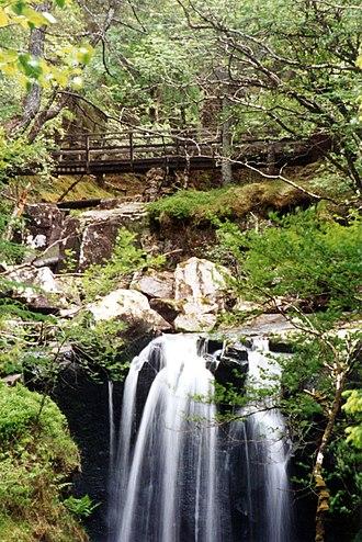 Victoria Falls, Wester Ross - Footbridge above the falls