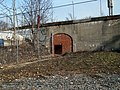 Former pedestrian tunnel to Harrison Square station, January 2016.JPG