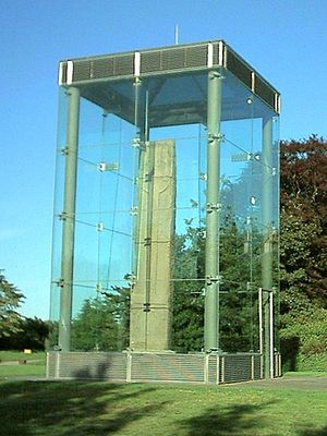 Fortriu - Sueno's Stone, located in Forres. This large post-Pictish monument marks some kind of military triumph.