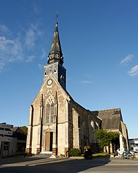 The church of Saint-Pierre, in Souday