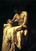 Francisco Ribalta - Christ Embracing St Bernard - WGA19350.jpg
