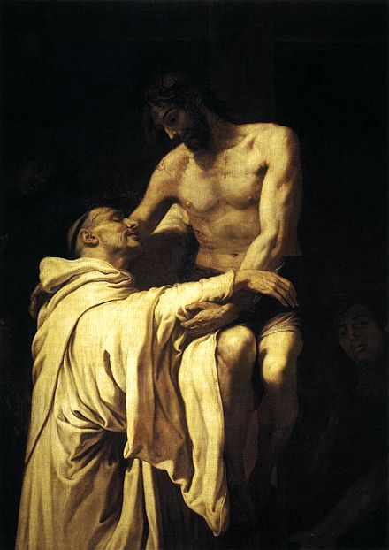 Christ Embracing St Bernard by Francisco Ribalta Francisco Ribalta - Christ Embracing St Bernard - WGA19350.jpg