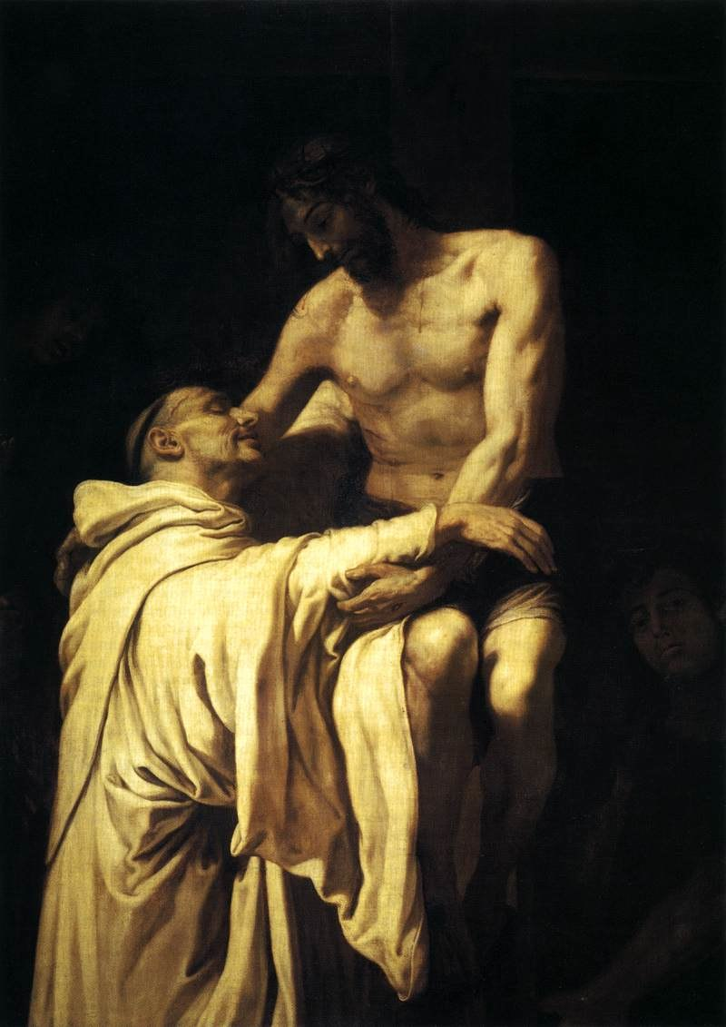 Francisco Ribalta - Christ Embracing St Bernard - WGA19350