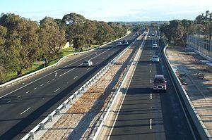 Frankston Freeway - Upgraded section of Freeway near EastLink