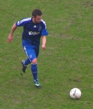 Miralem Sulejmani - Sulejmani taking a free kick with Ajax.