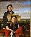 Friedrich Philipp and Albertine Magdalene Girsch, by Gotthelf Leberecht Glaeser, 1825, oil on canvas - Hessisches Landesmuseum Darmstadt - Darmstadt, Germany - DSC01200.jpg