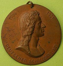 Plakette des Deutschen Schillerbundes von 1931 (Quelle: Wikimedia)