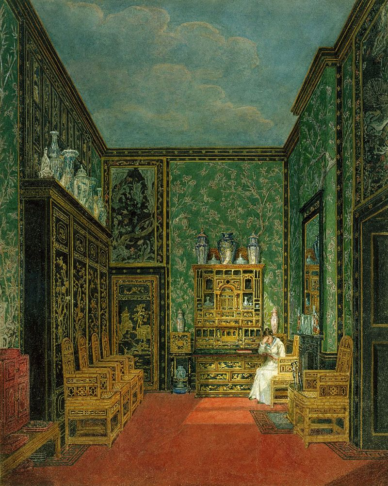 Frogmore House, Green Closet, by Charles Wild, 1819 - royal coll 922123 257048 ORI 0 0.jpg