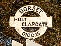 Furzehill, Clapgate signpost detail - geograph.org.uk - 1741408.jpg