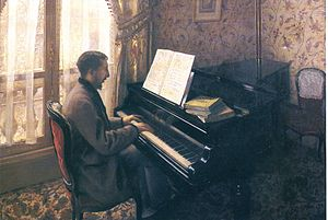 Martial Caillebotte - Gustave Caillebotte, Martial Caillebotte Playing the Piano, c. (1876)