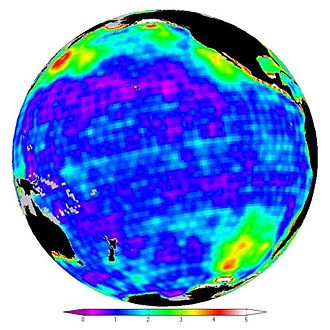 Gravity Recovery and Climate Experiment - Variations in ocean bottom pressure measured by GRACE