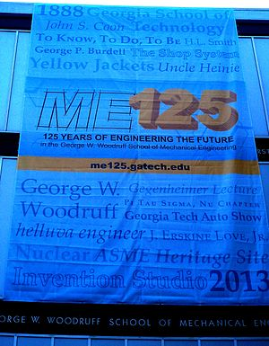 George W. Woodruff School of Mechanical Engineering - 125 Year Anniversary Banner