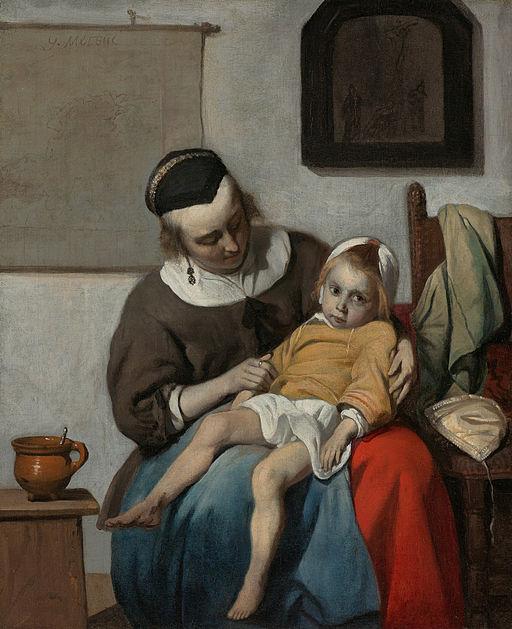 Gabriël Metsu - Het zieke kind - Google Art Project