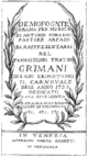 Gaetano Maria Schiassi - Demofoonte - titlepage of the libretto - Venice 1735.png