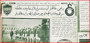 1928–29 Galatasaray S.K. season - First match on the newspaper