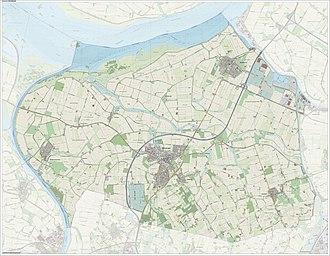 Steenbergen - Dutch Topographic map of Steenbergen, June 2015