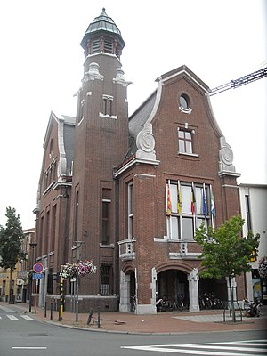 Zwijndrecht, Belgium - Old Town Hall, Zwijndrecht, Belgium. Built between 1931 and 1935, designed by architect Ernest Nagels